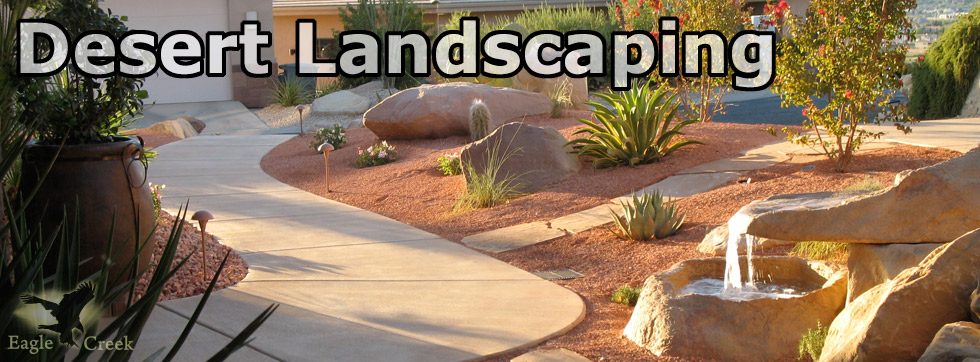desert landscaping is low maintenance